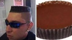 Barber: What kind of haircut do you want? Him: Do you know those candy Reese's cups? Barber: Say no more