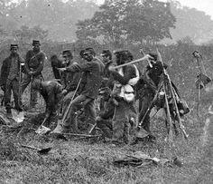 Burial crew at Antietam. Sept. 1862 Poss. 69th PA Vol.