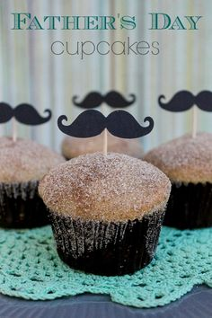 Fathers Day Cupcakes - Happy Fathers Day to all our fuzzy fathers out there, mustachioed and otherwise. :-{>