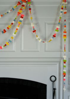 Molly's Sketchbook: Confetti New Year'sGarland - Knitting Crochet Sewing Crafts Patterns and Ideas! - the purl bee
