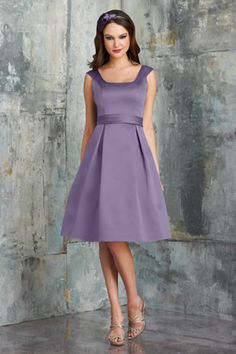 Your bridal party will look their absolute best on the special day in this gorgeous jolie satin fabric dress from Bari Jay Bridesmaid 547. This chic and stylish dress features a square neckline and flattering cap sleeves. The natural waistline is accented by an inverted mid-length box pleated skirt to complete the A-line silhouette of this beautiful ensemble. http://www.trendycollection.com/bari-jay-bridesmaid-item-5612&category_id=0&brands=4&click=brands