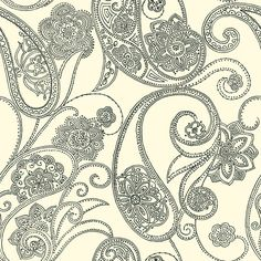 Candace Olson Dotted Paisley wallpaper to be installed in the top half of our main bathroom. So pretty in person!