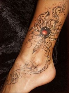 Unique leg tattoos for women