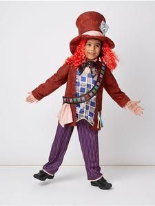 George Disney Alice in Wonderland Mad Hatter Costume Fancy Dress Outfit