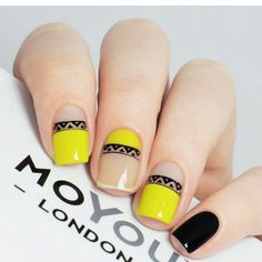 Top 50 ideas for Yellow Nail art designs Reny styles : Top 150 ideas for Yell - Top 50 ideas for Yellow Nail art designs Reny styles : Top 150 ideas for Yell - Nail Art Cute, Cute Nails, Pretty Nails, Yellow Nail Art, Tribal Nails, Nails Polish, Nail Art Videos, Manicure E Pedicure, Nail Decorations