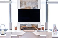 Gabriel Beaudry's Home Desk Setup photo by Gabriel Beaudry ( on Unsplash Home Sofa, Home Desk, Home Office, Workspace Inspiration, Design Inspiration, Desk Setup, Imac Setup, Design Your Home, Easy Home Decor