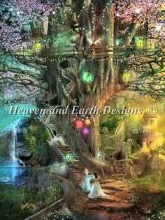 The Dreaming Tree [ASTEWART47164] - $12.35 : Heaven And Earth Designs, cross stitch,