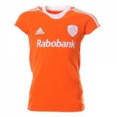 Het nieuwe Oranje KNHB hockey shirt dames van het Nederlands elftal, in dit shirt spelen onze oranje vrouwen hun hockey wedstrijden tijdens ...