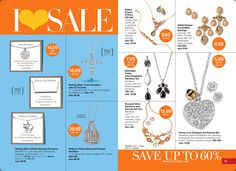 Save up to 60% on select Avon Jewelry. Avon's I Love Sale, Campaign 16. www.deannasbeautyshop.com #avon #sale #jewelry