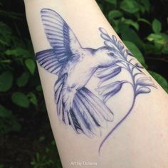Hummingbird Temporary Tattoo  Watercolor Temporary Tattoo