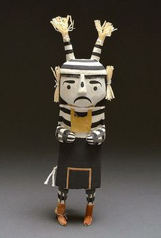 Clown Kachina Doll by Randy Brokeshoulder (Hopi)