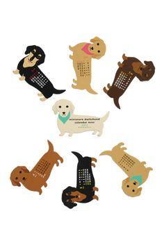 Year of the Critter Mini Calendar in Dachshund | Mod Retro Vintage Desk Accessories | ModCloth.com