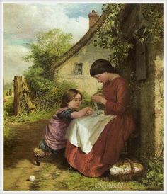 George Smith (British 1829 - 1901) «The Sisters Lesson»