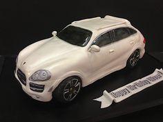 Porsche Cayenne turbo cake by debbiedoescakes, via Flickr