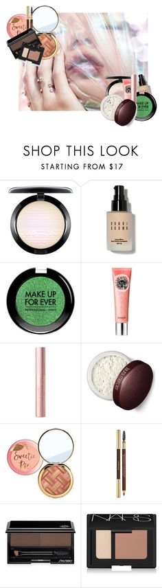 """""""#PolyPresents: Sparkly Beauty"""" by busrashin ❤ liked on Polyvore featuring beauty, MAC Cosmetics, Bobbi Brown Cosmetics, MAKE UP FOR EVER, Benefit, Laura Mercier, Yves Saint Laurent, Shiseido, NARS Cosmetics and contestentry"""