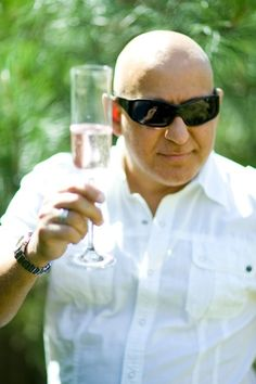 """DR M Is A """"Pink Prosecco"""" Man When It Comes To A Toast! SALUT!!"""