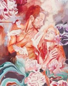 """🔥I Am A Twin Flame 🔥 on Instagram: """"The physical and astrales meetings and interactions with your Twin Flame move and potentially awaken long dormant DNA strings. (Kundalini…"""" Dimitra Milan, Inspiration Artistique, Flame Art, A Level Art, Portrait Art, Beautiful Paintings, Aesthetic Art, Figurative Art, Cool Artwork"""