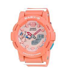 Casio Womens Baby-G Watch - Peach Case - Stopwatch - - Analog Digital Casual Watches, Cool Watches, Wrist Watches, Analog Watches, Running Watch, Michael Kors Men, Casio G Shock, Sport Watches, Watch Brands