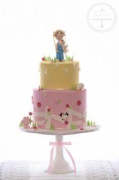 Cute farm girl cake