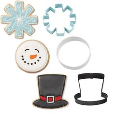 Christmas Snowman Metal Cookie Cutter Set