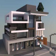 Villa Minecraft, Minecraft Modern Mansion, Minecraft City Buildings, Minecraft House Plans, Easy Minecraft Houses, Minecraft House Tutorials, Minecraft Houses Blueprints, Minecraft Room, Minecraft House Designs