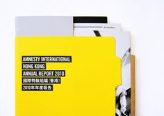 Amnesty International Hong Kong Annual Report 2010 on the Behance Network — Designspiration Brochure Inspiration, Business Inspiration, Design Inspiration, Design Ideas, Brochure Layout, Brochure Design, Magazine Design, Identity, Amnesty International