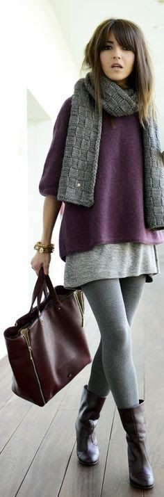 Cozy casual chic.