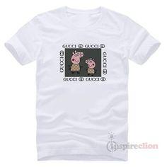 7efa9423 Fancy Peppa Pig GC Logo Parody Funny T-Shirt
