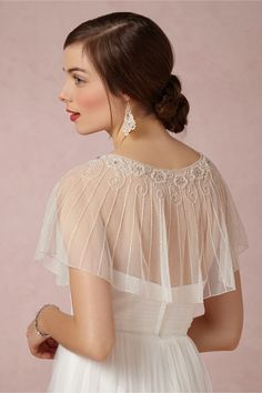 Beaded Botany Capelet in Shoes & Accessories Cover Ups at BHLDN