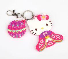 Genuine Sanrio Hello Kitty /'Vanilla/' Scented 3D Keyring Fob Key Ring Gift