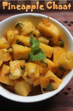 YUMMY TUMMY: Pineapple Chaat Recipe - Pineapple Salad Recipe