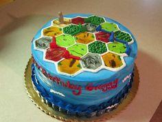 Catan birthday cake!  Awesomeness!