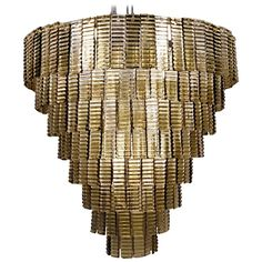 Round Eight Tiers Chandelier, Venini Attribution, Murano, Fume Taupe Color 1980s | From a unique collection of antique and modern Chandeliers and Pendants at https://www.1stdibs.com/furniture/lighting/chandeliers-pendant-lights/.