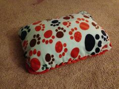 DIY No Sew pet Bed Pick your fleece Get a regular pillow TaDa you have an inexpensive pet bed!