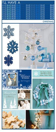 {Theme Idea} Blue Christmas Party | Polka Dot Design Blog: Ideas, Inspiration & Invitations