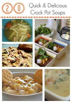 20 Quick & Delicious Crock Pot Soups- Cheerios and Lattes