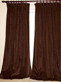 Brown Velvet Drapes for My Bedroom