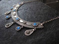 Jewelry, Silver necklace,Filigree silver necklace, Opal necklace, Yemenite necklace, Ethnic necklace, Israel jewelry by MorSilverJewelry on Etsy https://www.etsy.com/listing/227052470/jewelry-silver-necklacefiligree-silver