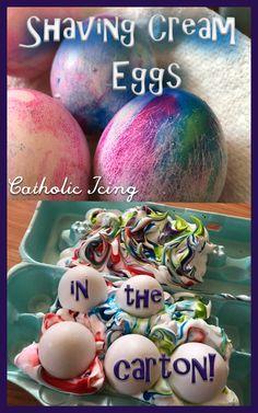 Make Easy Shaving Cream Eggs – IN The Carton!