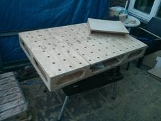 MTI-Workbench with a bench dog holes module.