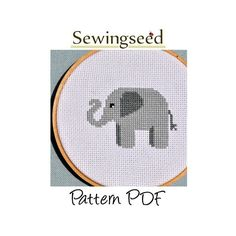Elephant Cross Stitch Pattern, INSTANT DOWNLOAD. $5.00, via Etsy.