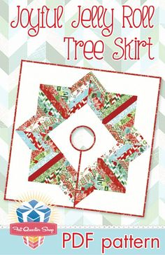 Christmas Tree Skirts Patterns, Xmas Tree Skirts, Tree Patterns, Pdf Patterns, Pattern Sewing, Pattern Fabric, Christmas Sewing, Christmas Projects, Christmas Quilting
