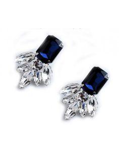 $6.95USD at www.bibjewelry.com | Worldwide Shipping | Statement Earrings | Ear Candy | Ear Party | Sapphire Wings Earrings