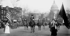 In 1913, suffragists crashed Woodrow Wilson's inauguration to demand the vote