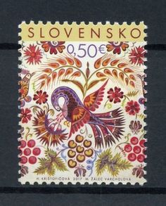 Stamp: Easter Folk Painting from Vajnory (Slovakia) (Easter) Mi:SK 813 Polish Folk Art, Beautiful Paintings, Pattern Art, Decoration, Postage Stamps, Painting Inspiration, Art Reference, Original Paintings, Character Design