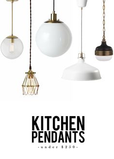 Industrial design: Stylish Kitchen Pendant lighting Under $250