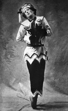 "Vaslav Nijinsky in Petrushka, 1911 Nijinsky was famed for his ability to ""become"" the characters he portrayed;in later life he fell victim to mental illness and was diagnosed as schizophrenic.A tragic end to a legend"