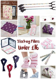 The Able Label Christmas stocking fillers for under £20. Dressing aids, blue badge permit holders, bed socks, shoe horns, grabber sticks, hot water bottles, wheat warmers