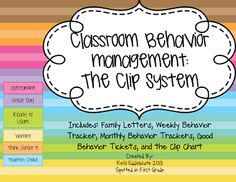 Spotted in First Grade: Classroom Management: Clip System or Class Dojo? Behavior Tracker, Behavior Management System, Classroom Behavior Management, Student Behavior, Behavior Calendar, Classroom Behaviour, Classroom Rewards, Class Dojo, Math Workbook
