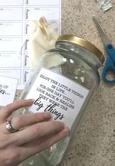 Learn how to create an easy DIY Memory Jar with this step by step guide, AND use the free printables that come with it. Graduation Party Centerpieces, Graduation Parties, Graduation Decorations, Graduation Ideas, Graduation Quotes, Memories Jar, Baby Memories, Prayer Jar, Prayer Room